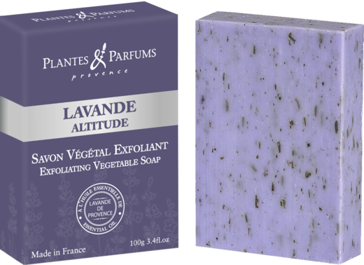 Exfoliating Vegetable Soap / Kuoriva Palasaippua Laventeli 100 g PP